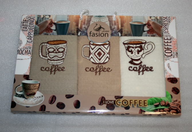 Utierka 3 SET - KAZETA COFFEE